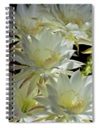 Easter Lily Cactus Bouquet Spiral Notebook