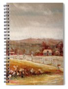 Eastern Townships Quebec Painting Spiral Notebook