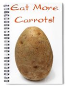 Eat More Carrots Spiral Notebook