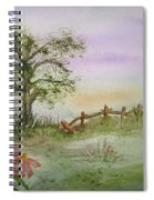 Echinacea And Crooked Fence Spiral Notebook