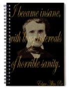 Edgar Allan Poe 2 Spiral Notebook