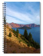 Edge Of The Crater Spiral Notebook