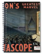 Edisons Vitascope, 1896 Spiral Notebook