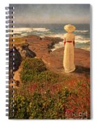 Edwardian Lady By The Sea Spiral Notebook