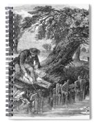 Eel Fishing, 1850 Spiral Notebook