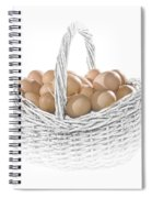 Eggs In A Woven Basket No.0064 Spiral Notebook