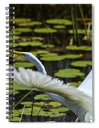 Egret Take Off Spiral Notebook