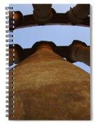 Egypt Luxor Pillars Spiral Notebook