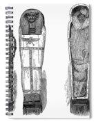 Egypt: Royal Mummies, 1882 Spiral Notebook