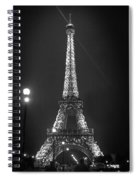 Eiffel By Night Spiral Notebook
