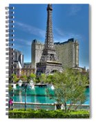 Eiffel Tower And Reflecting Pond Spiral Notebook