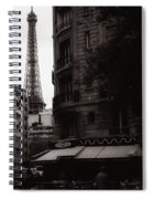 Eiffel Tower Black And White 2 Spiral Notebook