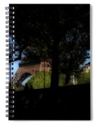 Eiffel Tower Shadows Spiral Notebook