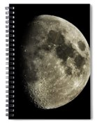 Eight-day-old Moon Spiral Notebook