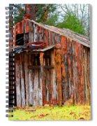 Elderly Shed Spiral Notebook
