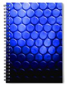 Electric Blue Circle Bumps Spiral Notebook
