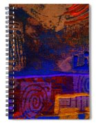 Electric Blue Patterns Spiral Notebook