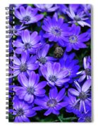 Electric Indigo Garden Spiral Notebook