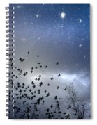 The Night Was Electrically Charged Spiral Notebook