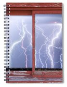 Electric Skies Red Barn Picture Window Frame Photo Art  Spiral Notebook