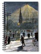 Electric Streetlight, 1881 Spiral Notebook