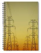 Electricity Pylons Spiral Notebook