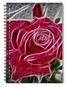 Electrostatic Rose Spiral Notebook