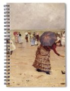 Elegant Figures On A Beach Spiral Notebook
