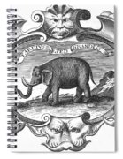 Elephant, 17th Cent Spiral Notebook