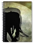 Elephants On Moonlight Walk 2 Spiral Notebook