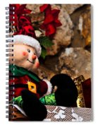 Elf On Shelf Spiral Notebook