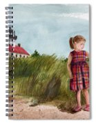 Ella At East Point Light Spiral Notebook