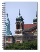 Ellis Island And Statue Of Liberty Spiral Notebook