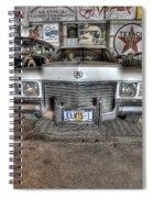 Elvis' Cadillac Spiral Notebook