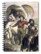 Emigrants To West, 1874 Spiral Notebook