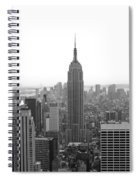 Empire State Building In Black And White Spiral Notebook