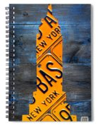 Empire State Building Nyc License Plate Art Spiral Notebook