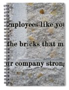 Employee Service Anniversary Thank You Card - Cement Wall Spiral Notebook