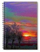 Enameled Sunrise Of Northern California Spiral Notebook