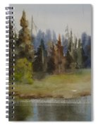 End Of The Lagoon Spiral Notebook