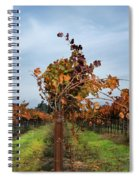 End Of The Vineyard Row Spiral Notebook