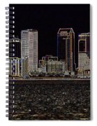 Energized Tampa - Digital Art Spiral Notebook