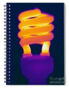 Energy Efficient Fluorescent Light Spiral Notebook