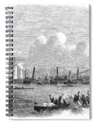 England: Boat Race, 1858 Spiral Notebook