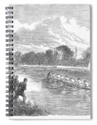England: Boat Race, 1866 Spiral Notebook