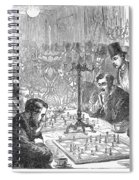 England: Chess Match Spiral Notebook