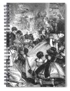 England: Christmas Party Spiral Notebook