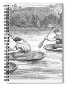 England: Coracle Race, 1881 Spiral Notebook