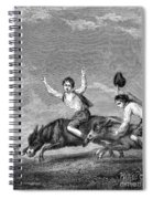 England: Donkey Race Spiral Notebook