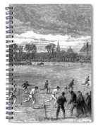 England: Foot Race, 1866 Spiral Notebook